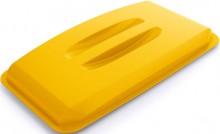 Deckel für DURABIN LID 60 gelb rechteckig Griffmulde 501x57,5x272mm