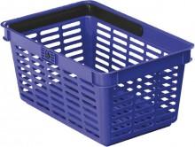 Einkaufskorb mit großem Tragegriff stapelbar, Griff klappbar,19 Liter, dunkelblau