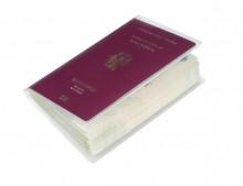 Ausweishülle Reisepass, 2-teilig 189x129mm, PP, dokumentenecht