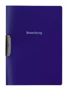 """Bewerbungsmappe in blau mit Aufdruck """"Bewerbung"""""""