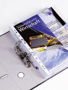 Ordnungsschiene A4 Uniloch weiß Abheftleiste Universallochung