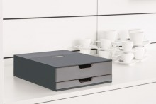 Coffee Point Box 2, Aufbewahrungsbox mit 2 Schubladen für Kaffeezubehör,