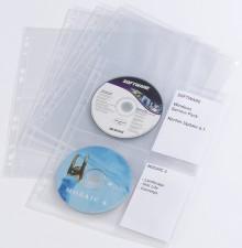 CD-Hülle f. 4 CDs transparent für Ringbuch 5278 - 10 Hüllen
