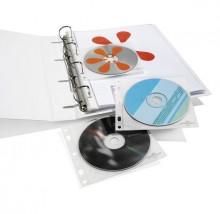 CD-Hülle f. 1 bis 2 CDs transparent Abheftbar in Ordnern, gelocht