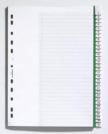 Register 1-31, A4, hoch, grün, H x B: 297 x 215/230 mm,