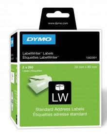 Adressetikett 28x89mm weiß, permanent 260 Etiketten pro Rolle