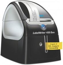 Labelwriter DYMO 450 Duo blau/graumetallic,elegantes Design