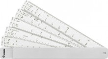Fächermaßstab im Aluminium-Etui 5 Kunststoffstreifen # 724710