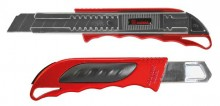 Ecobra Premium-Cutter, Metallgehäuse rot, 18 mm, 4-Punkt-Arretierung,