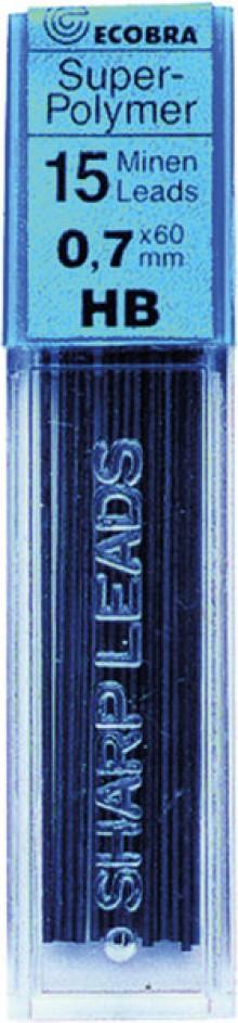 Ecobra Feinminen 0,7mm, HB, schwarz passend für alle Druckbleistifte