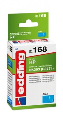 Edding Tinte 168 HP 363 cyan Ersetzt: HP C8771, No.363