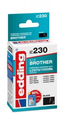 Edding Tinte 230 Brother LC970, 1000 black, Ersetzt: Brother LC970BK/