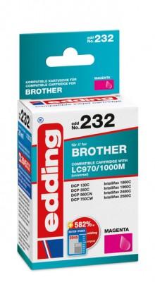 Edding Tinte 232 Brother LC970, 1000 magenta, Ersetzt: Brother LC970M/