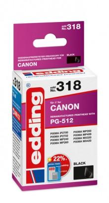 Edding Tinte 318 Canon 512 black Ersetzt: Canon PG-512, No.512