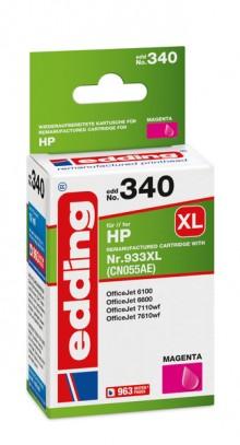 Edding Tinte 340 HP 933XL magenta Ersetzt: HP CN055AE, No.933XL
