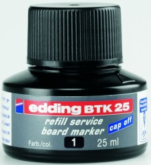 Nachfülltusche in Flasche 25ml sw schwarz für Boardmarker edding 28,29,