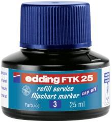 Nachfülltusche in Flasche 25ml bl blau für Flipchartmarker edding