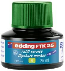 Nachfülltusche in Flasche 25ml gn grün für Flipchartmarker edding