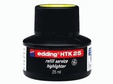 Nachfülltinte HTK 25 f. Highlighter, gelb, 25 ml