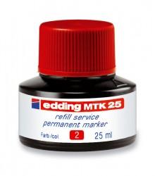 Nachfülltinte für Permanentmarker 25 ml rot