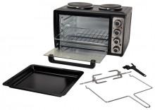 Kleinküche, 2 Kochplatten groß/klein und Backofen Ober-/Unterhitze