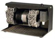 Schuhpolierer 24 x 24 x 40 cm, pulverbeschichtetes Metallgehäuse,