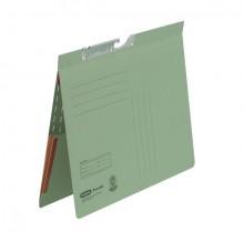 Pendelhefter A4, kfm. Heftung, Dehn- tasche, grün, 320 g/qm