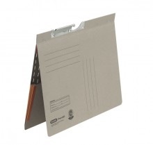Pendelhefter A4, kfm. Heftung, Dehn- tasche, grau, 320 g/qm