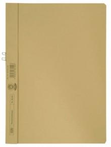Klemmhandmappe, A4, für 10 Blatt, gelb, ohne Vorderdeckel, 250g Manila-