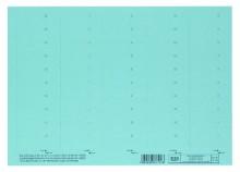 Beschriftungsschildchen f.Vertic 1 Hängeregistratur - blau