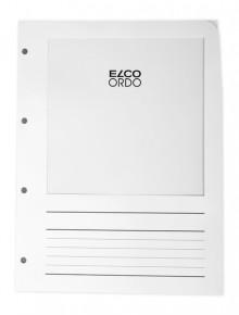 Ordo Prospekthülle Papier A4, weiß, m. Sichtfenster, Liniendruck, 100 stk.