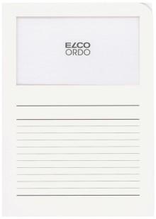 Organisationsmappe Ordo classico, weiß, m. Sichtfenster 180 x 100 mm