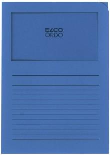 Organisationsmappe Ordo classico, königsblau, m. Sichtfenster 180 x 100 mm