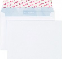 Elco Briefumschlag hochweiss mit grauem Innendruck, C6, 100 g, Haftklebung