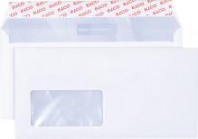 Elco Briefumschlag hochweiss mit grauem Innendruck, DIN Lang, 100 g, Haftklebung mit Fenster