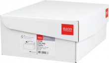 Elco Briefumschlag hochweiss mit grauem Innendruck, DIN Lang, 100 g, Haftklebung