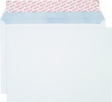 Briefumschlag hochweiss mit grauem Innendruck, C4, 120 g, Haftklebung.