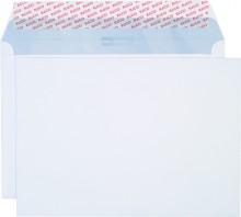 Briefumschlag hochweiss mit grauem Innendruck, B4, 120 g, Haftklebung.