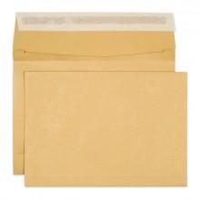 Briefumschlag braun, B4, 140 g, Haftklebung, 50mm Stehboden