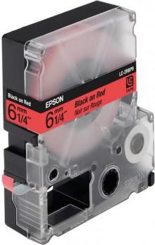 Schriftbandkassette LC-2RBP9 pastell, schwarz auf rot