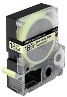 Schriftbandkassette LC-5ZBU1 im Dunkeln leuchtend, Textfarbe schw.