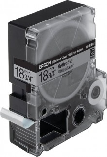Schriftbandkassette LC-5SBR1 Reflektierend, schwarz auf silber