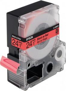 Schriftbandkassette LC-6RBP9 pastell, schwarz auf rot,