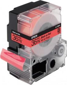 Schriftbandkassette LC-7RBP9 pastell, schwarz auf rot