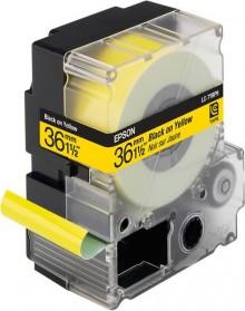 Schriftbandkassette LC-7YBP9 pastell, schwarz auf gelb