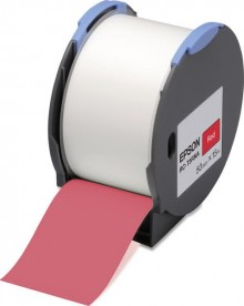 Kunststoffetiketten RC-T5RNA für LW Pro 100, 50mm x 15m, rot
