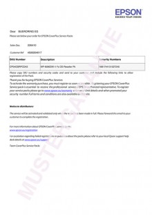 Ersatzteile und Reperatur- Pauschale 1 Jahr für WF-R5690DTWF