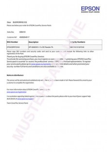 Coverplus - Vor-Ort Service 3 Jahre für WorkForce WF DS-530