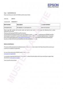 Coverplus - Vor-Ort Service 3 Jahre für WorkForce WF DS-570