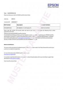 Ersatzteile Garantie 3 Jahre für WF-8090DW
